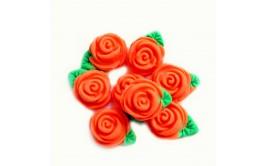 סט ורדים כתומים מבצק סוכר