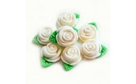 סט ורדים לבנים מבצק סוכר
