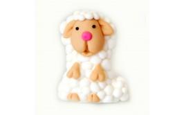 כבשה מדליקה מבצק סוכר לקישוט עוגה