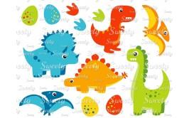 טרנספר לעוגה דינוזאורים מצויר 909