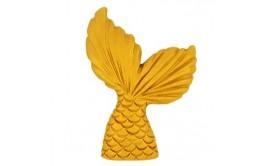 סנפיר מרהיב מבצק סוכר זהב מטאלי