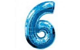 בלון מיילר ענק מספר 6 צבע כחול