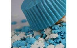 סוכריות פתיתי שלג תכלת לבן דגם פרוזן