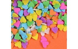 סוכריות שטוחות לבבות צבעוניים