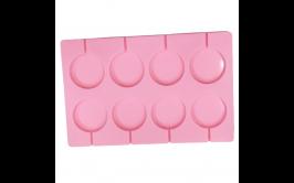 """תבנית סילקון איכותית להכנת 8 סוכריות קוטר 5 ס""""מ"""