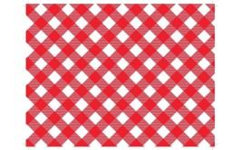 מארז נייר עיתון דגם משבצות אדום לבן