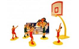 סט שחקני כדורסל לקישוט העוגה