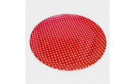 מגש נקודות אדום פלסטיק קשיח