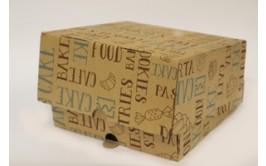 קופסא לעוגה עגולה 30*30*12 10 יחידות