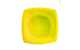 מארז 20 קעריות פלסטיק מרובע  צהוב