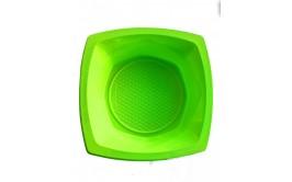 מארז 20 קעריות פלסטיק מרובע ירוק