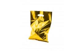שקיות יום הולדת מטאלי זהב עם ידית אחיזה