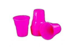 מארז 40 כוסות פלסטיק איכותי צבע ורוד