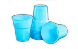 מארז 40 כוסות פלסטיק איכותי צבע טורקיז