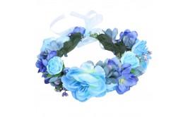 זר פרחים גדול מרהיב גווני כחול