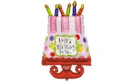 בלון מיילר ענק עוגה עם נרות
