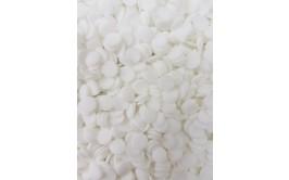 מארז סוכריות דיסקיות עגול צבע לבן