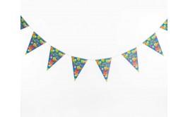 שרשרת דגלונים יום הולדת שמח רקע כחול