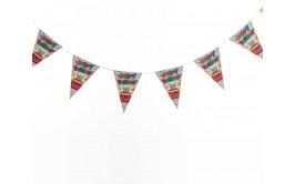 שרשרת דגלונים יום הולדת שמח דגם עוגה