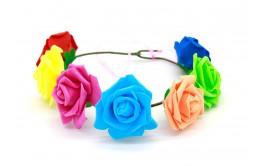 זר פרחים מיקס צבעוני גדול
