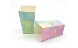 מארז 6 קופסאות לפופקורן מטאלי צבעוני יום הולדת שמח