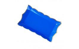 מארז 4 מגשים כחול מוטבע זהב