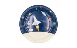 סט צלחות גדולות אסטרונאוט בחלל