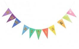 שרשרת דיגלונים יום הולדת שמח צבעונית