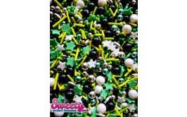 סוכריות מיקס מרהיבות ירוק מוכסף שחור