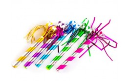 מנשפים מטאליים ארוכים צבעוניים פרנזים
