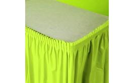 חצאית שולחן ירוק תפוח