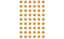 שקף להכנת נשיקות דגם כדורסל