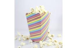 מארז 8 קופסאות פופקורן דגם פסים צבעוני