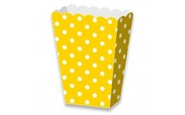 מארז 6 קופסאות פופקורן נקודות צהוב