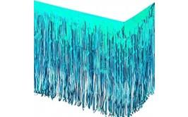 חצאית שולחן פרנזים מטאלי טורקיז