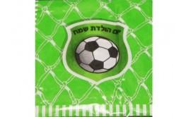 מארז מפיות דגם כדורגל רקע ירוק
