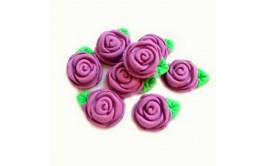 סט ורדים סגולים מבצק סוכר