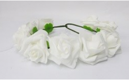 זר פרחים מרהיב צבע לבן