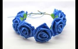 זר פרחים מרהיב צבע כחול