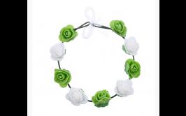 זר פרחים ירוק לבן