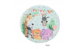 """מארז 10 צלחות קטנות 7"""" דגם חיות חדש"""