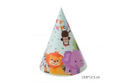 מארז כובעי מסיבה דגם חיות חדש