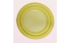 """מארז 10 צלחות 23"""" צבע צהוב אומברה"""