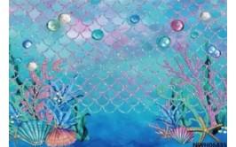 רקע שולחן /צילום דגם בת הים הקסומה מבד