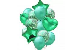 בוקט מרהיב 14 יחידות ירוק