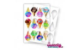 שבלונה דגם גלידות