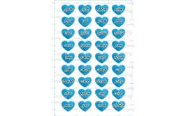 שקף טרנספר 36 סיבות לאהוב אותך כחול לאישה 450