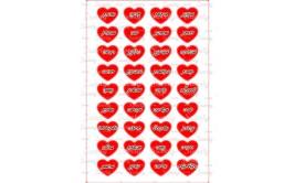 שקף טרנספר 36 סיבות לאהוב אותך אדום  לאישה 455