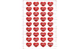 שקף טרנספר 36 סיבות לאהוב אותך אדום ספארקל לאישה 454