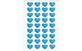 שקף טרנספר 36 סיבות לאהוב אותך כחול לגבר 456